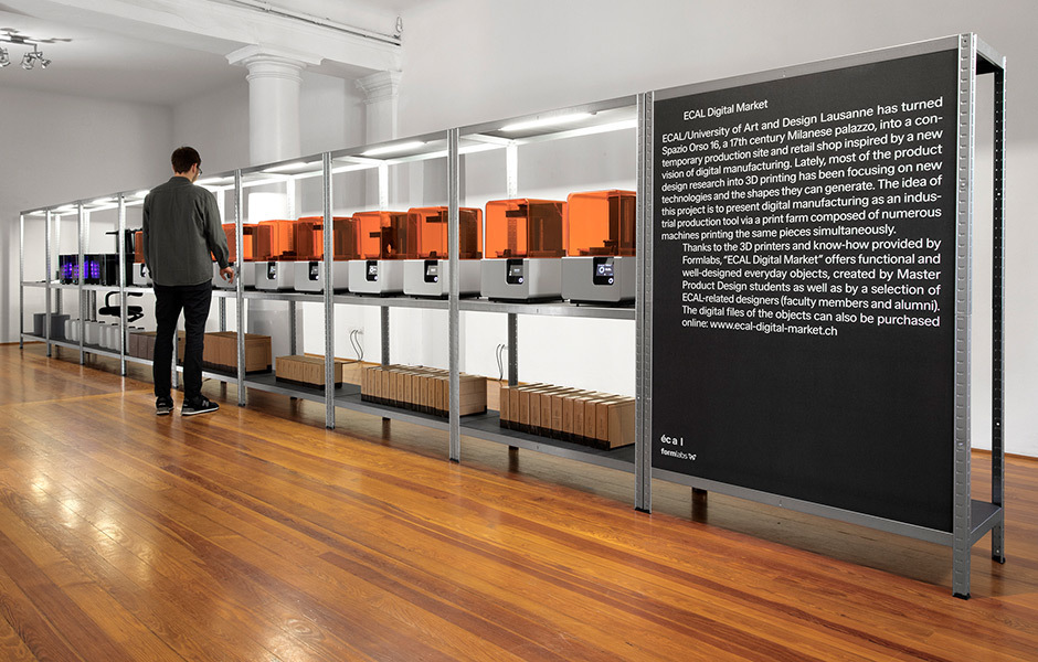 Die Ecal im Spazio Orso: Digital Market, Foto: © Ecal