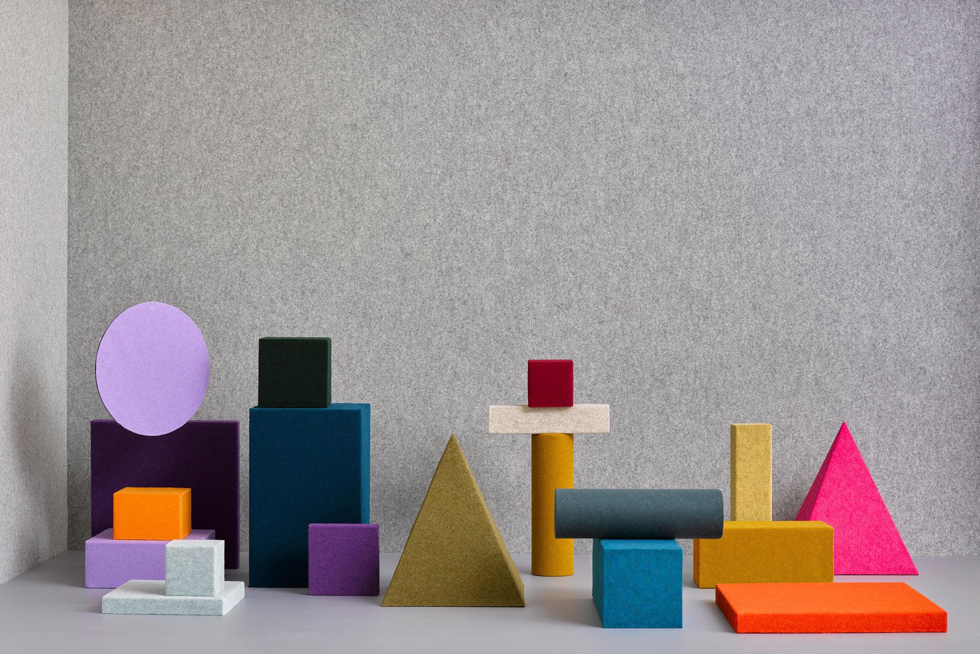 Vielseitiger Filz: Das niederländische Start-up Féline Fabrics macht sich bei seinen akustischen Wandverkleidungen die schalldämpfenden Eigenschaften von Filz zunutze. Foto: Féline Fabrics