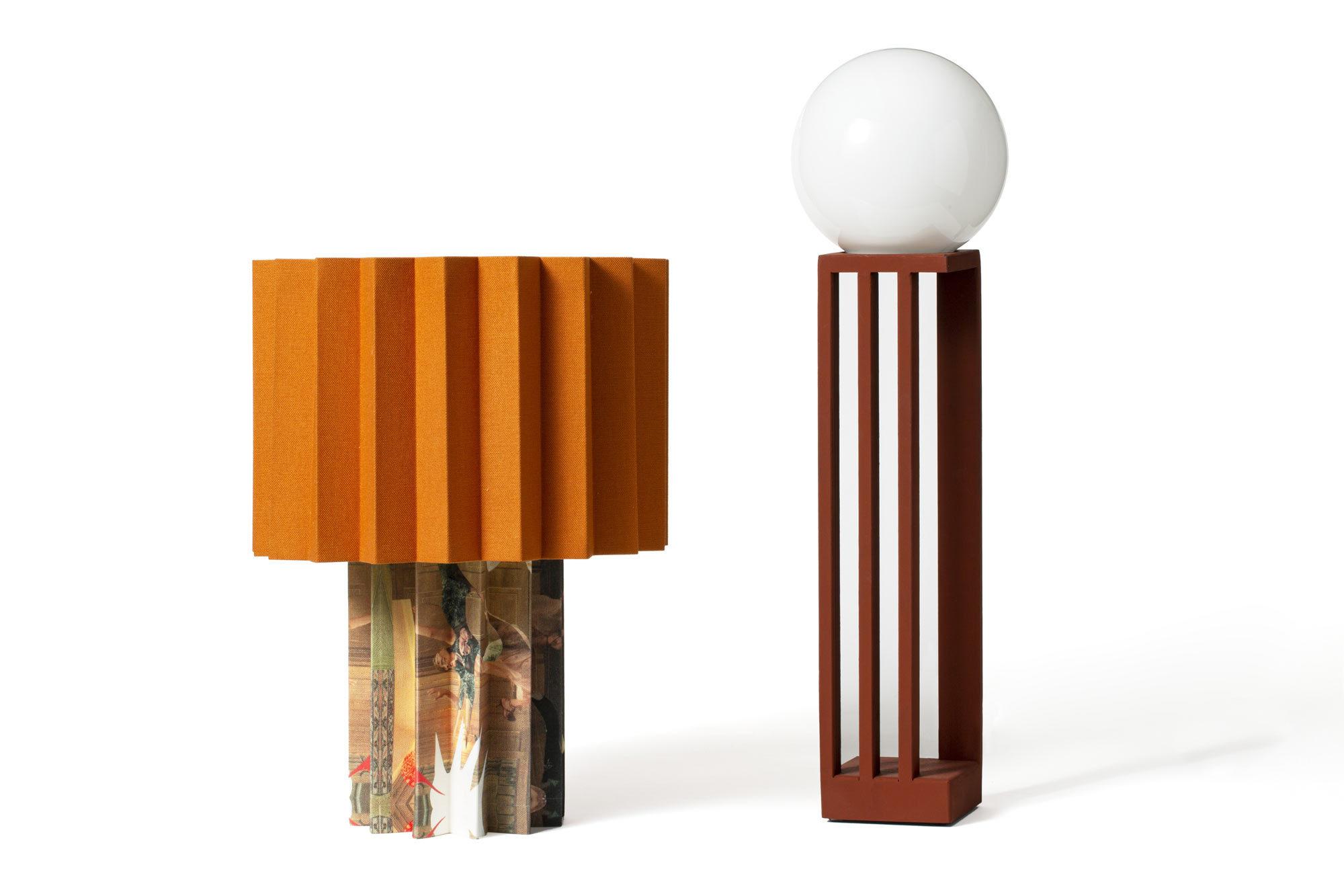 Wiederkehrende Proportionen: Die Leuchte Libreria entwarf das Duo 2016 für einen Buchbinder in Mailand.