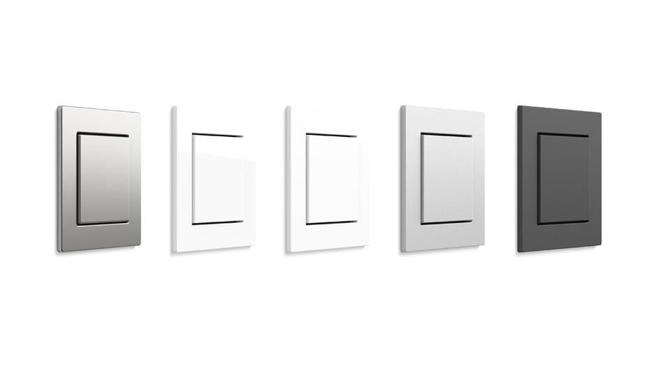 Gira E2 zählt durch ihre klare und reduzierte Formensprache zu den beliebtesten Schalterserien unter Architekten.