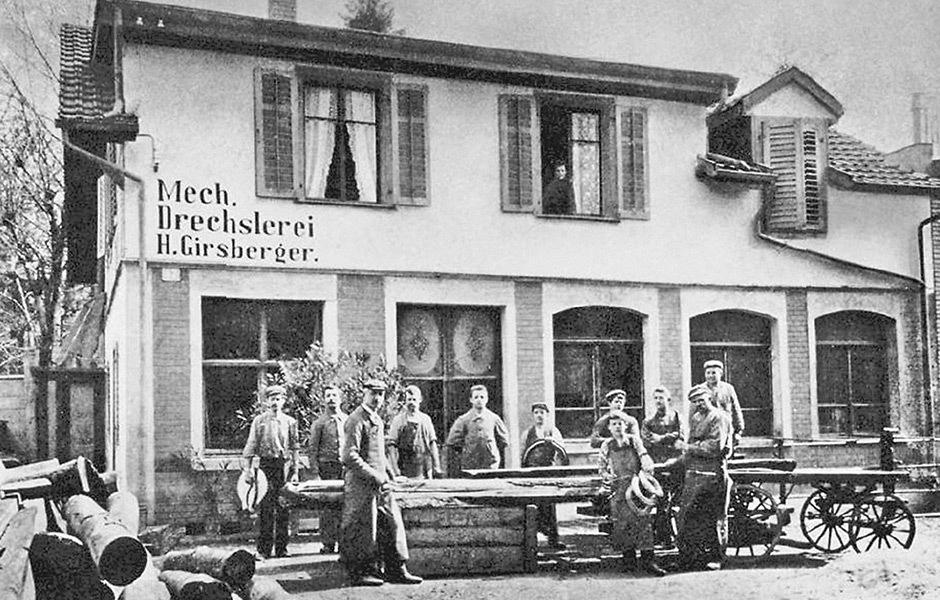 Historische Aufnahme: zweite Werkstattvergrößerung Neptunstraße in Zürich-Hottingen, 1900, © Girsberger