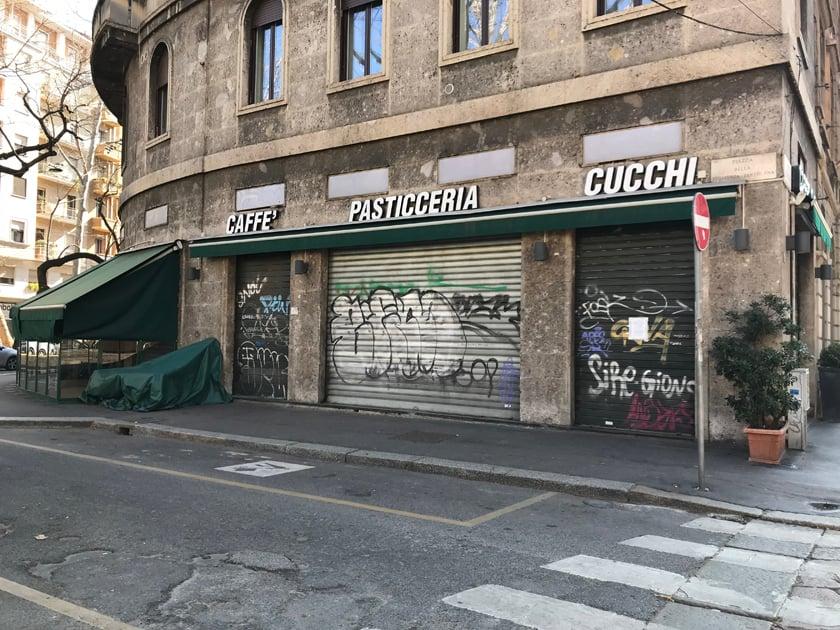 Pasticceria Cucchi (das Café de Flore von Mailand), 16.03.2020 gegen 14:40 Uhr