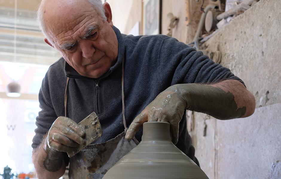Behind the scenes: Die Handwerker und Designer während der Pretziada-Workshops.