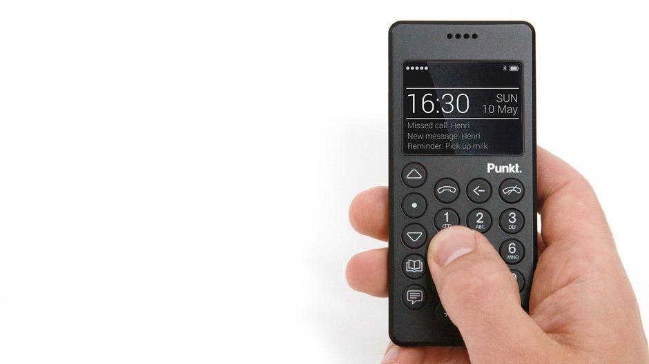 Das Punkt-Mobiltelefon MP 01 und weitere Produkte von Jasper Morrison bei Designlines