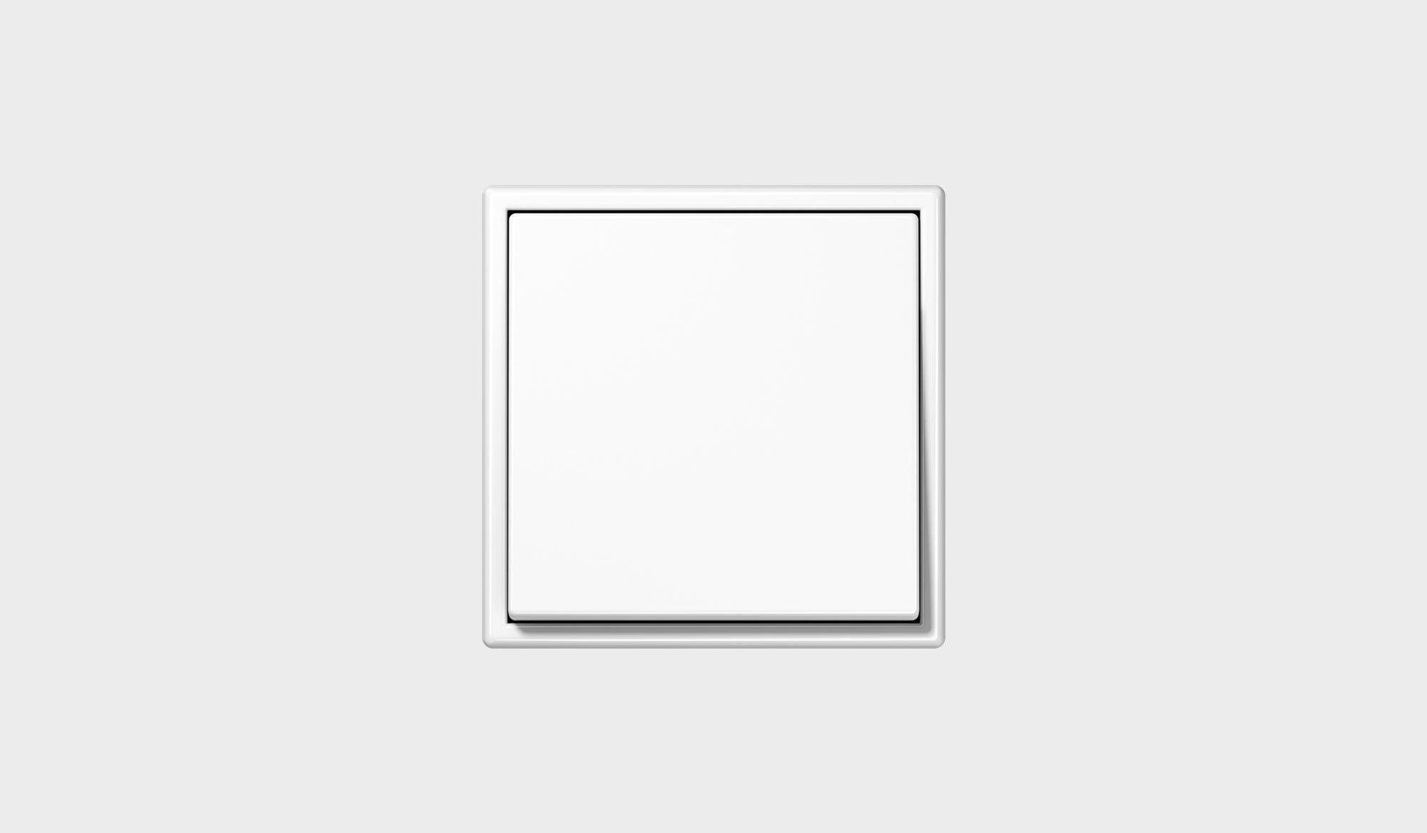 JUNG Lichtschalter LS 990, Kunststoff Alpinweiß