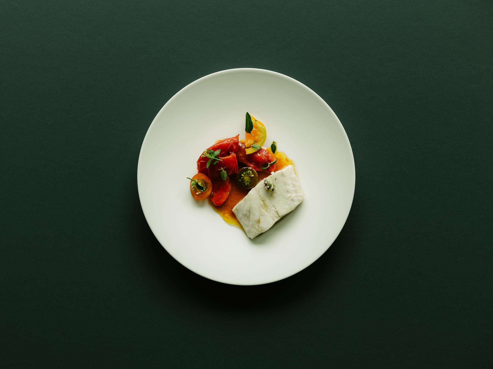 Kabeljau, Tomate, gegrillte Paprika