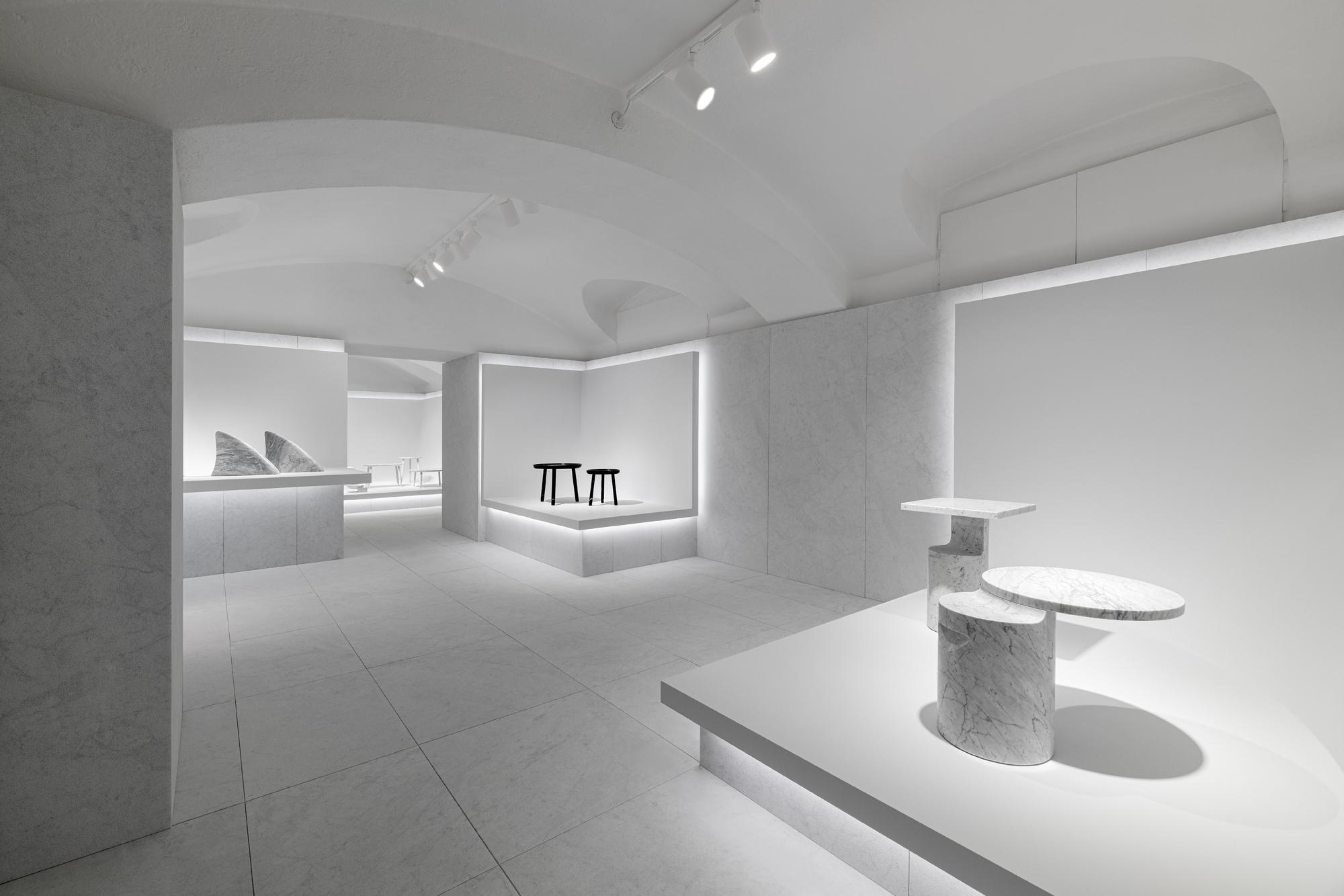 Marsotto Showroom am Largo Treves, entworfen von Oki Sato/Nendo. Foto: Hiroki Tagma