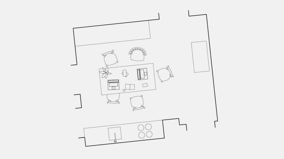 Zunächst skizzierte Florian Bengert sein eigenes Homeoffice. Er arbeitet derzeit von seinem Küchentisch aus.