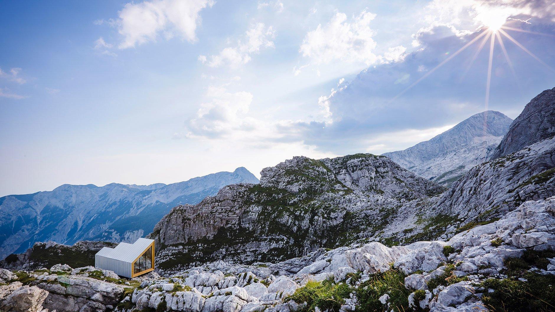 Alpine Shelter, Skuta, Slowenien, 2016, Entwurf: OFIS arhitekti und AKT II in Zusammenarbeit mit Studierenden der Harvard University Graduate School of Design, Foto: ©Anze Cokl