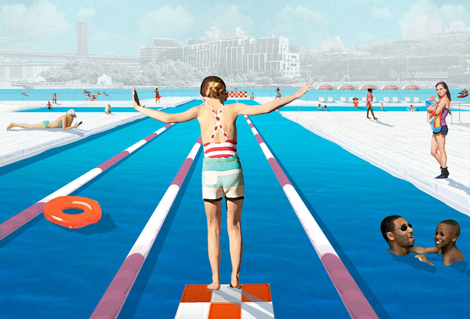 Rendering: Family New York, Courtesy of Friends of + POOL