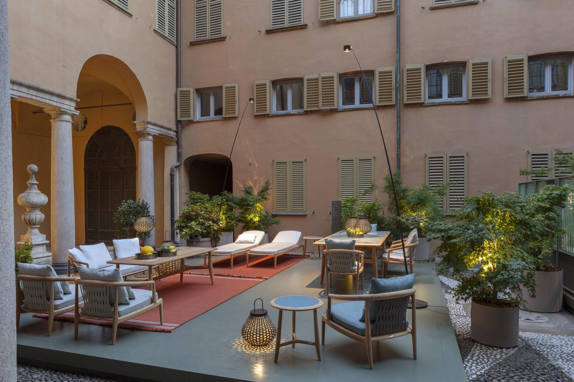 Präsentation von Poltrona Frau im Palazzo Gallarati Scotti an der Via Manzoni. Foto: Poltrona Frau