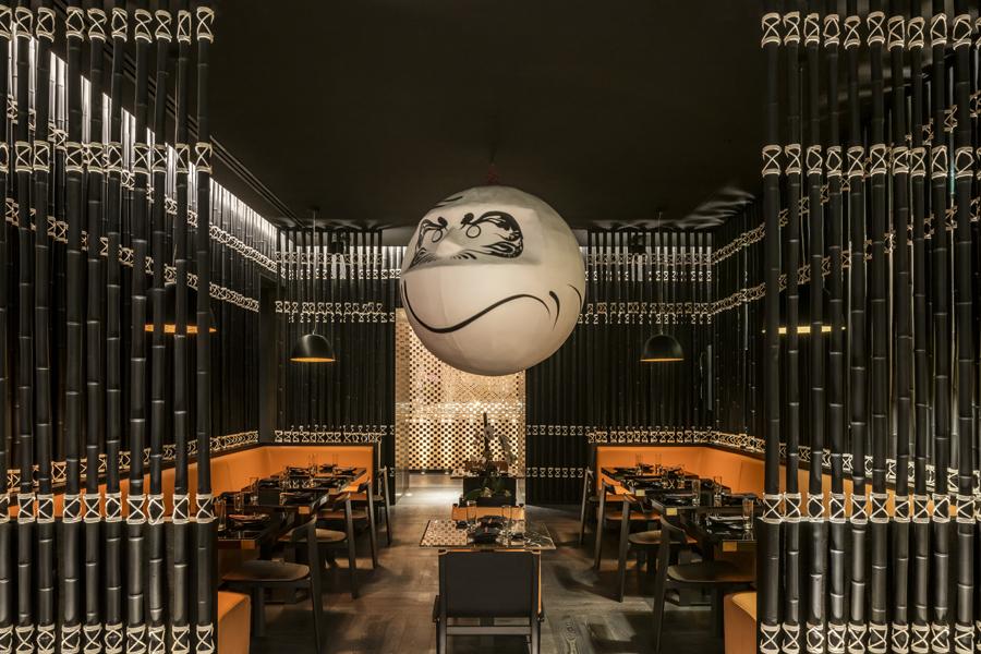 RestaurantKatsuyaimSLS Lux Brickell Hotelin Downtown Miami. Foto: Yabu Pushelberg