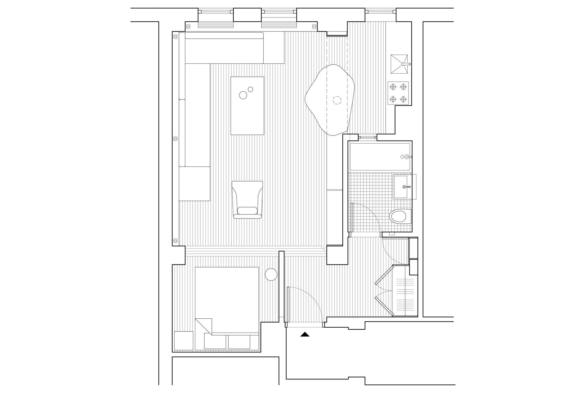 Der Grundriss des Apartments ist lediglich 45 Quadratmeter groß.