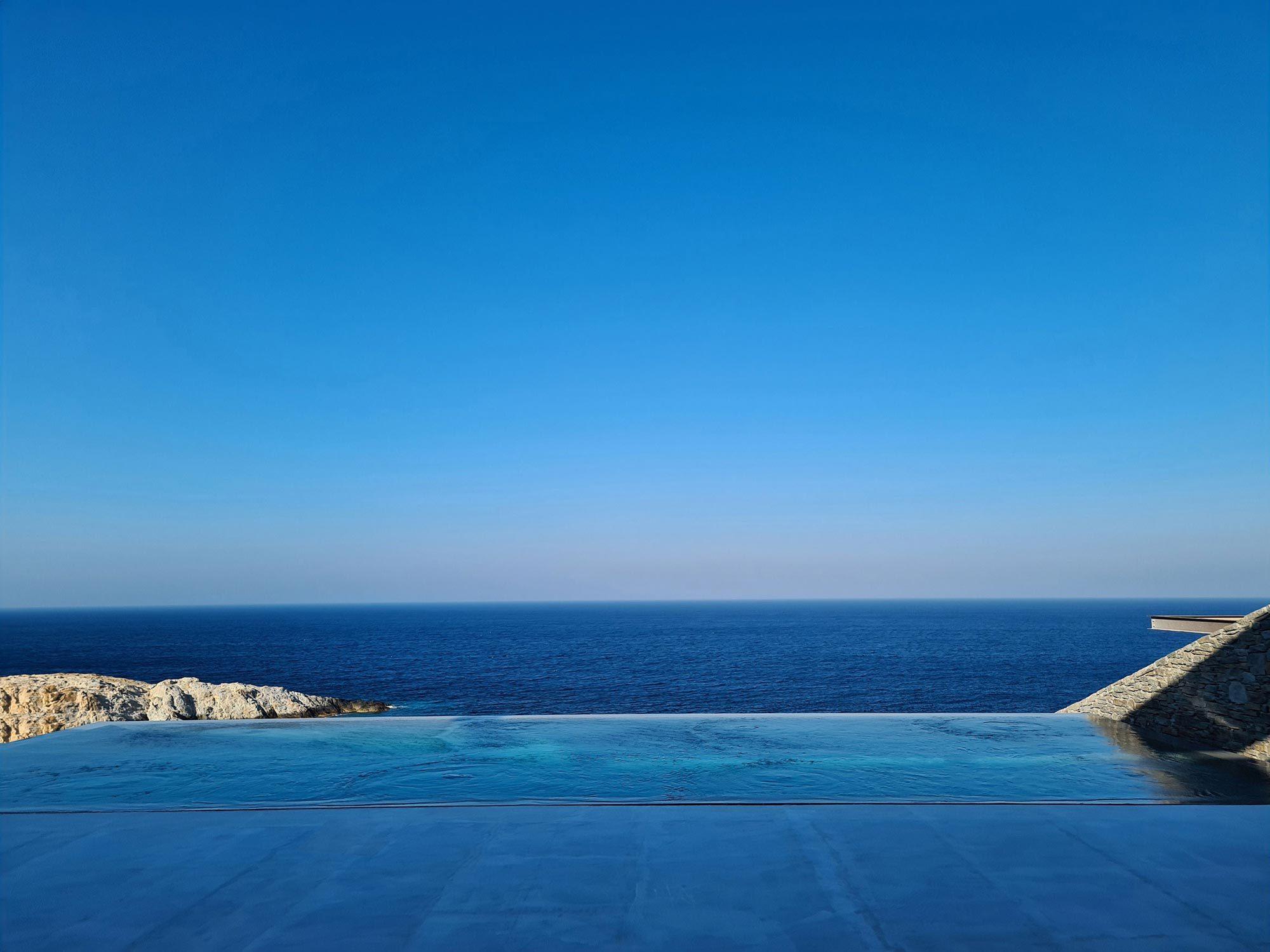 Infinity-Pool mit Blick auf die Ägäis. Foto:Panagiotis Voumbakis