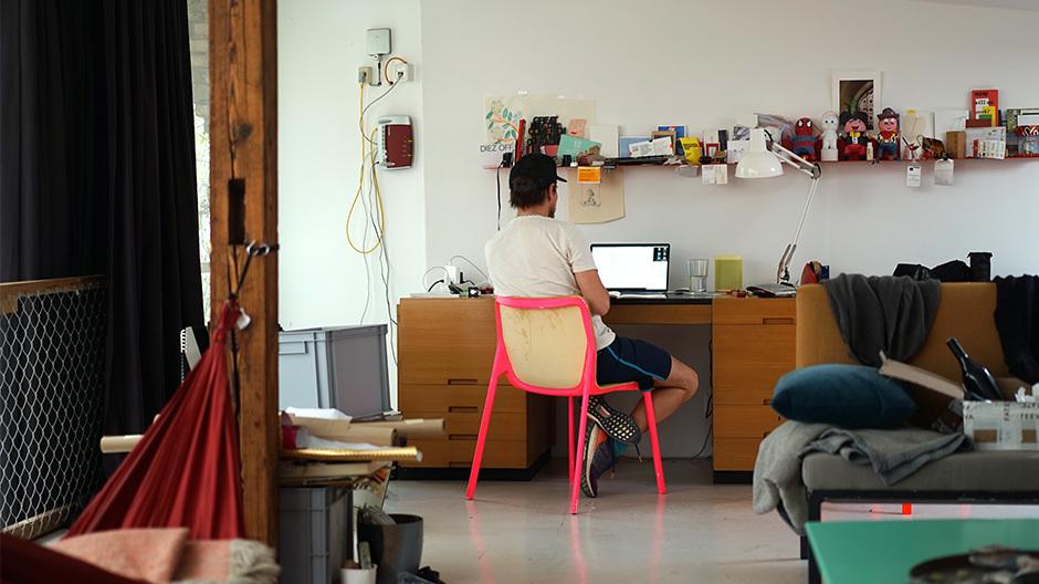 Stefan Diez in seinem Office. Foto: Selma