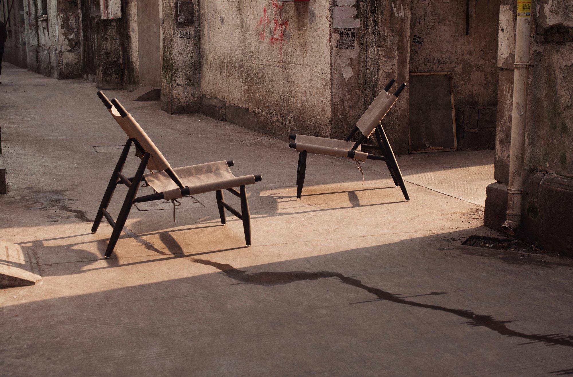 Triangle Chair (1952) von Vilhelm Wohlert, neu aufgelegt von Stellar Works 2018. Foto: Stellar Works