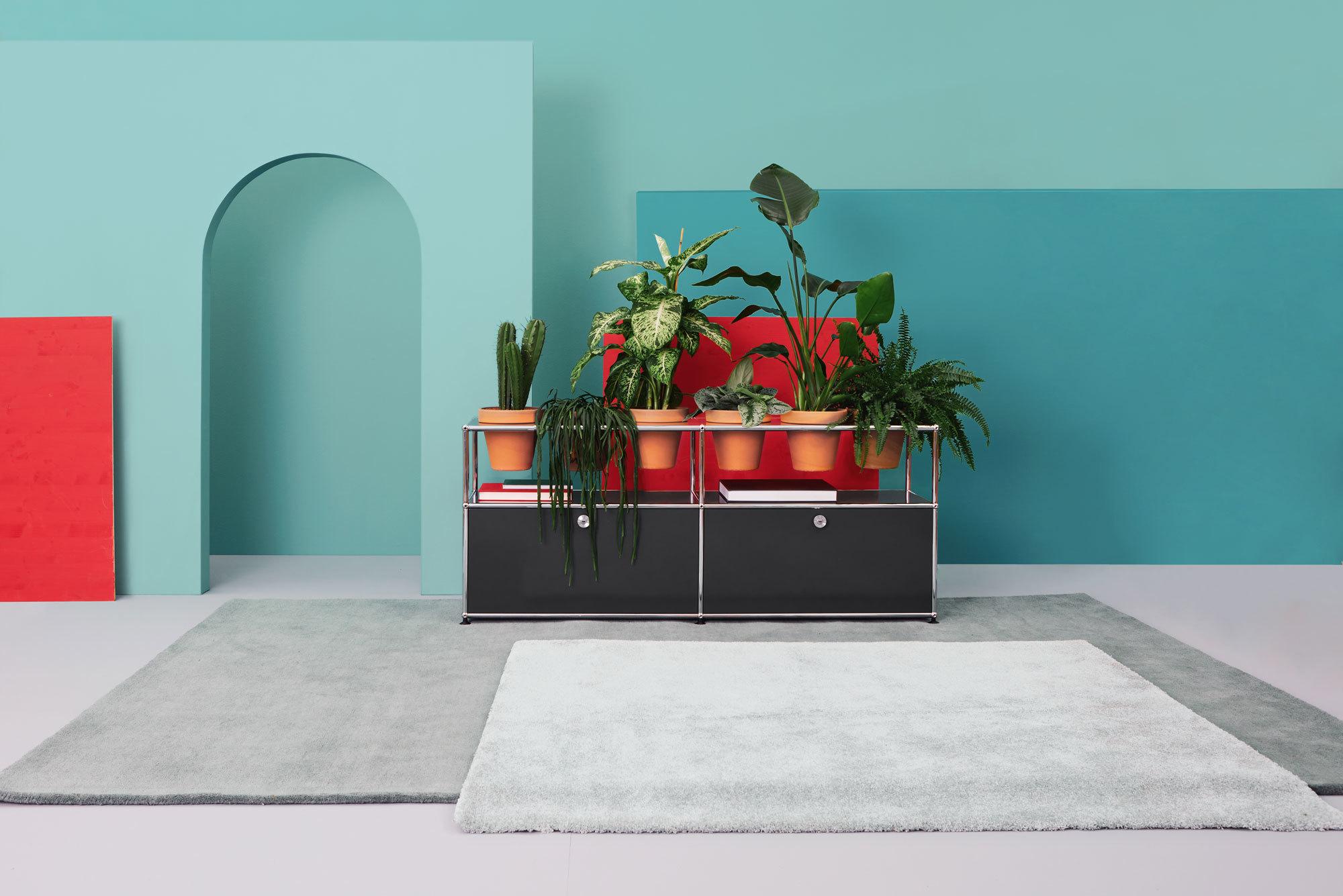 Ein leicht zu integrierendes Pflanzenmöbel für Wohn- und Büroräume als Teil des USM Möbelsystems, Foto: Studio Eyecandy