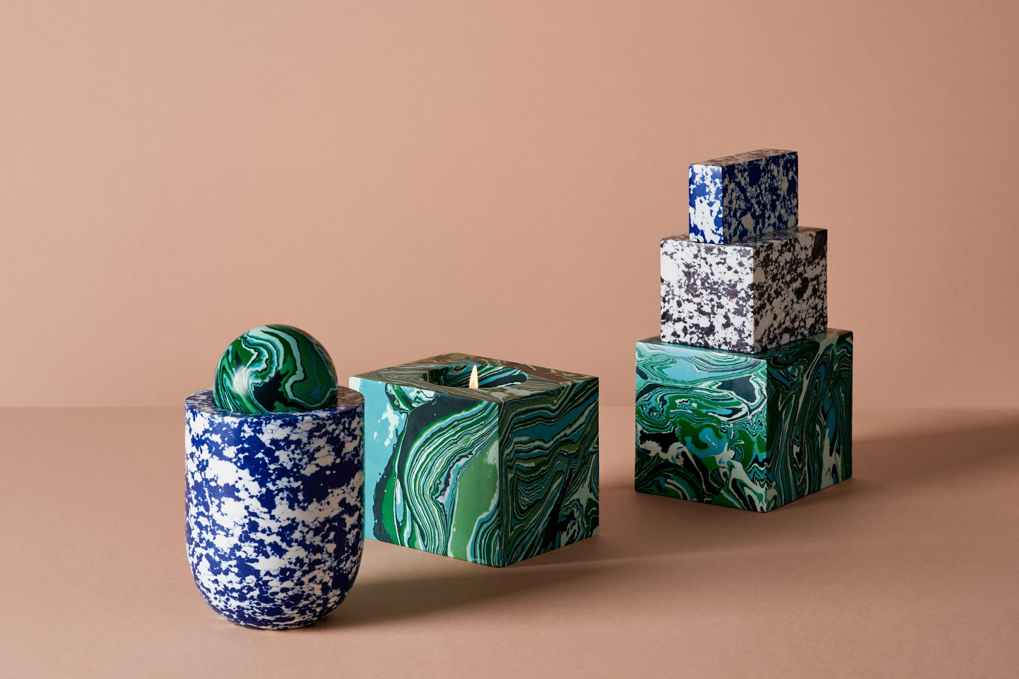 London Design Festival 2020: Kerzenset Swirl Candles. Foto: Studio Tom Dixon