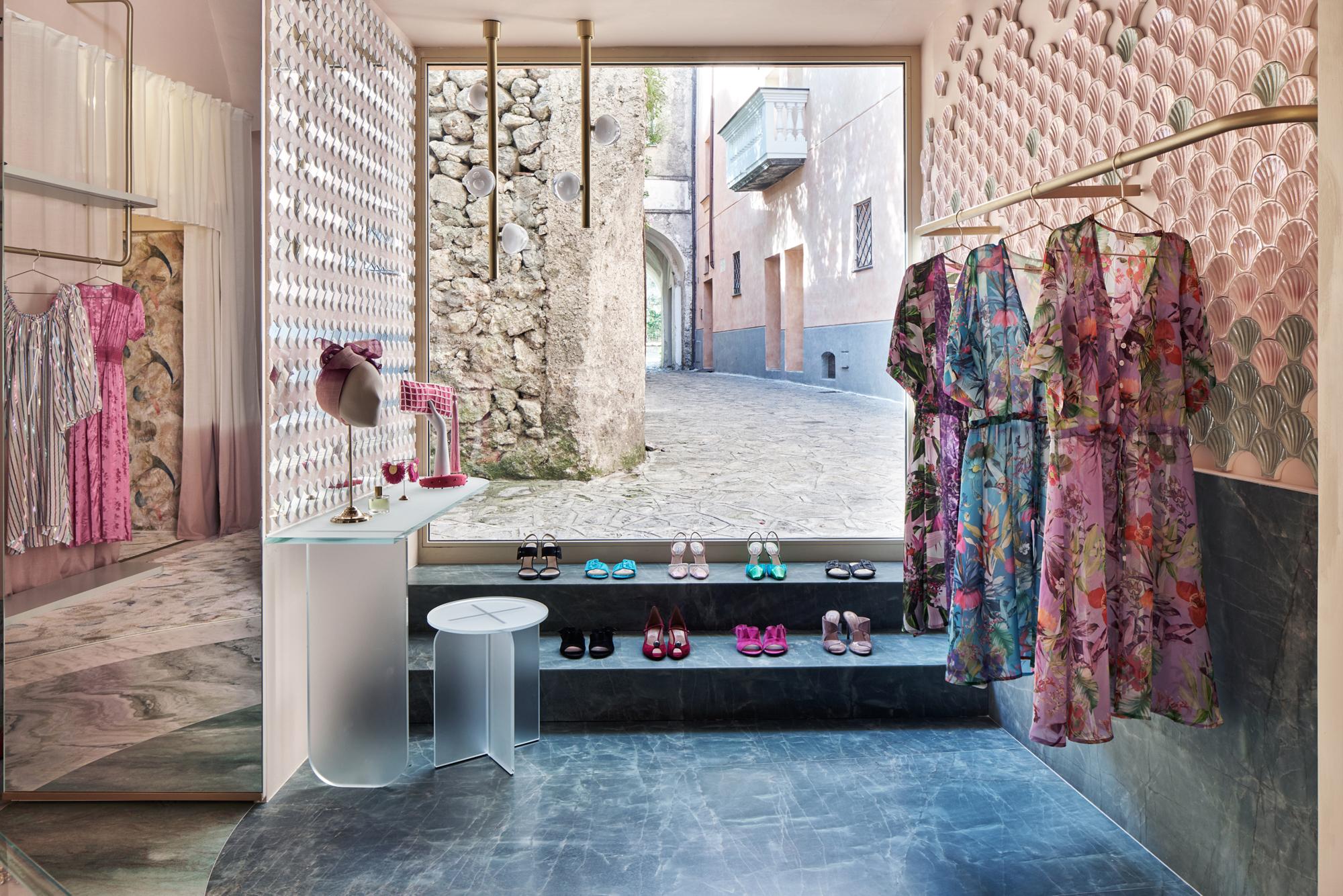 Boutique The Pink Closet für das Hotel Palazzo Avino in Ravello an der Amalfiküste. Foto:Davide Lovatti