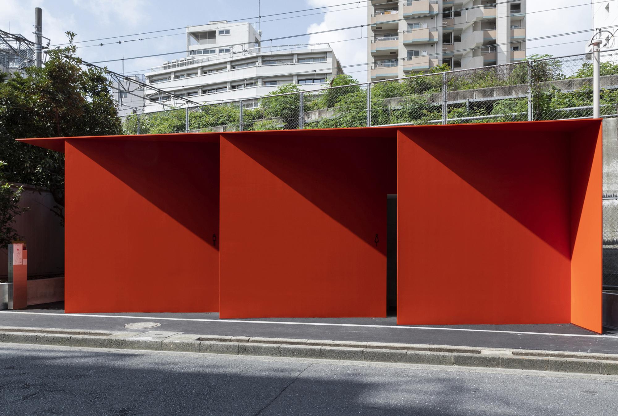 The Tokyo Toiletan der Higashi Sanchome Straßenbahnhaltestelle von Nao Tamura. Foto: Satoshi Nagare / The Nippon Foundation