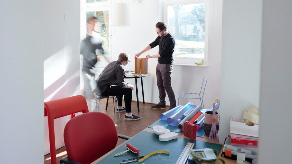DAS STUDIO IN HANNOVERDas Studio von Rudolph Schelling Webermann befindet sich in einem Altbau in Hannover. Foto: Frank Schinski