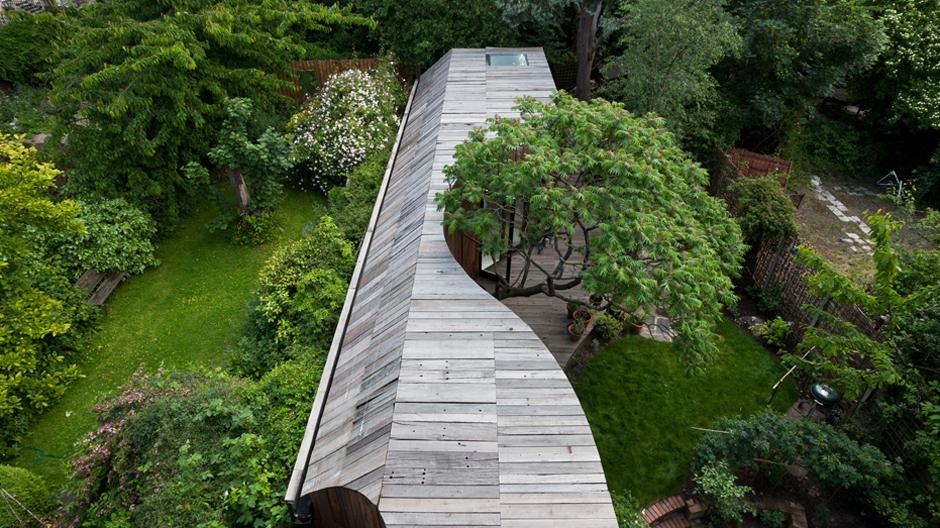 Tree House, Ansichten und Grundrisse