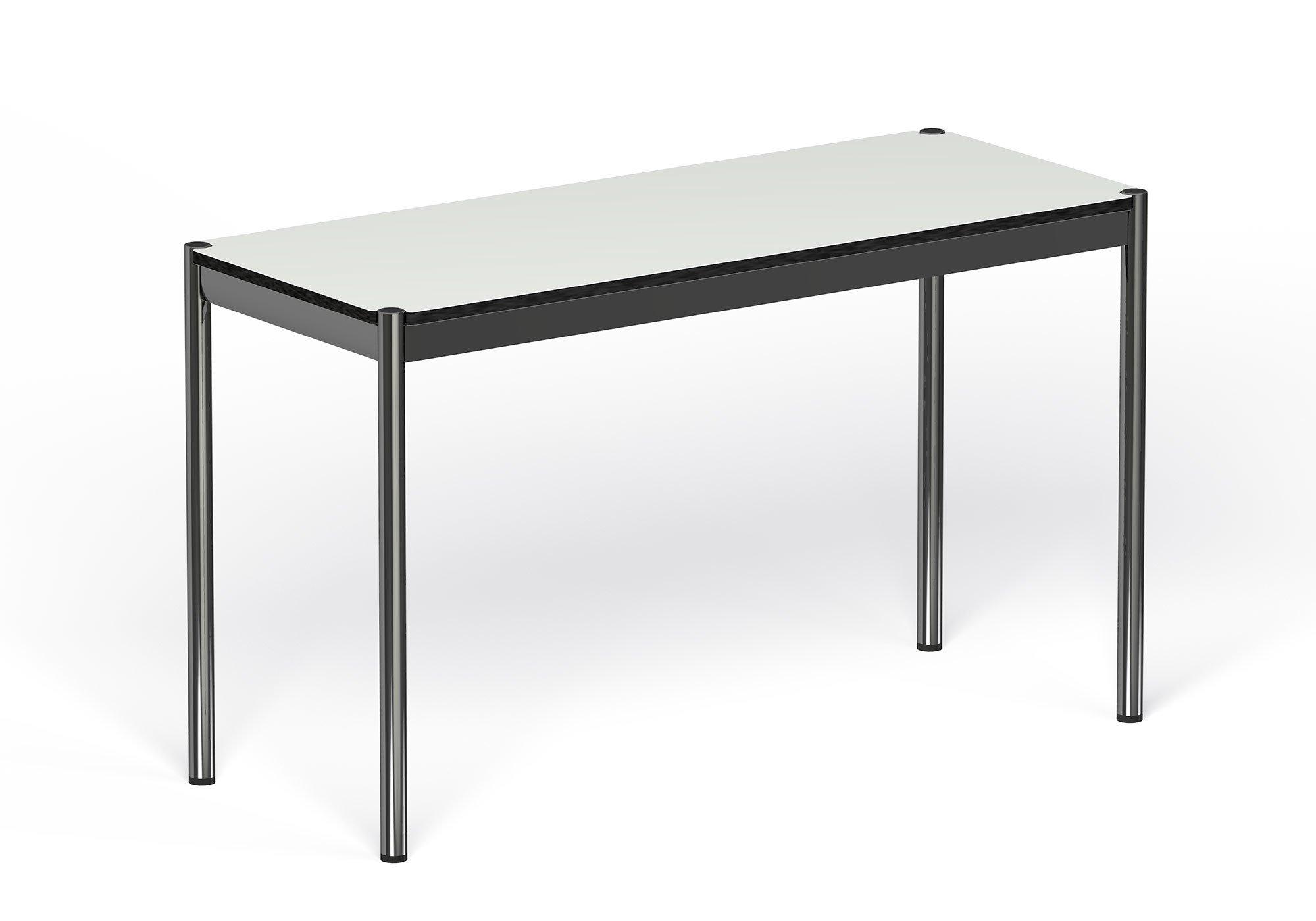 USM Haller Tisch schmal: Kunstharz, Perlgrau. Maße: L: 1250, T: 500, H: 740mm