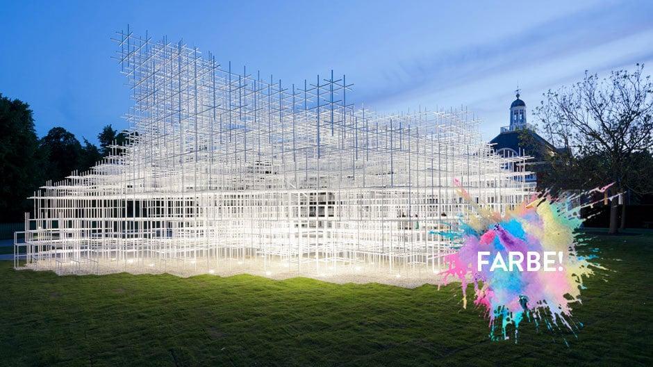 Der Serpentine Pavillon 2013 vom japanischen Architekten Sou Foujimoto in London.