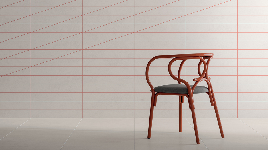 FliesenkollektionCava für Living Ceramics und Stuhl Brezel für Gebrüder Thonet Vienna, Foto: © Living Ceramics