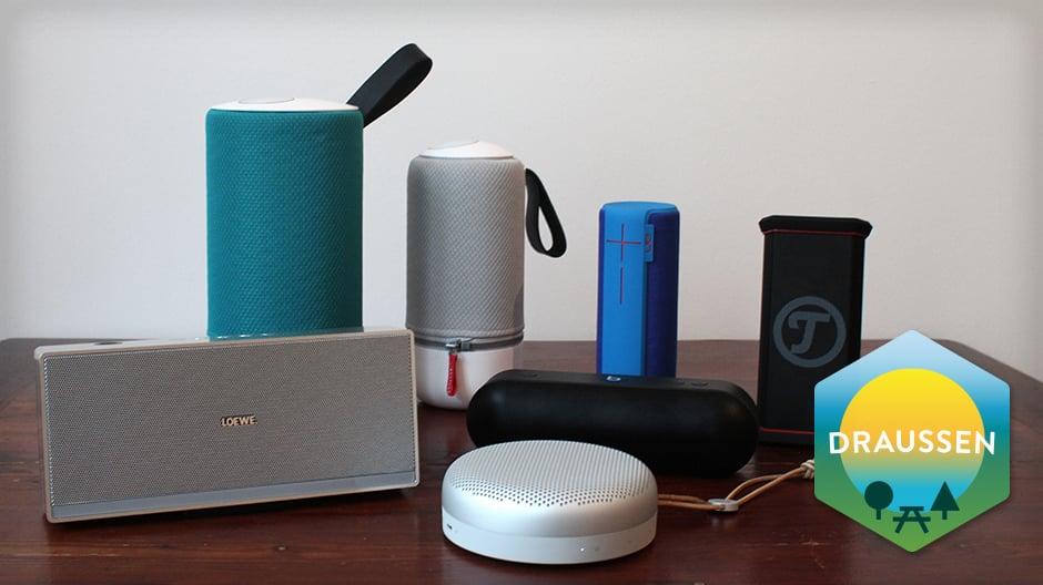 Satter Sound für unterwegs: Wir haben sechs Hersteller und ihre mobilen Lautsprecher für Sie auf Herz und Töne getestet.
