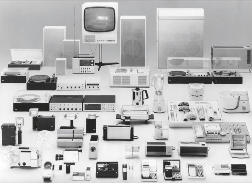 Produktpalette von Braun, © Rams Archiv