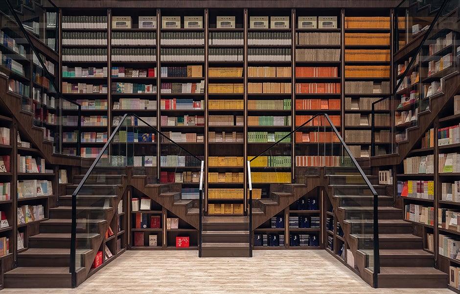 Bücher bis in den Himmel: Jeder Zentimeter des Ladens ist den Büchern gewidmet.