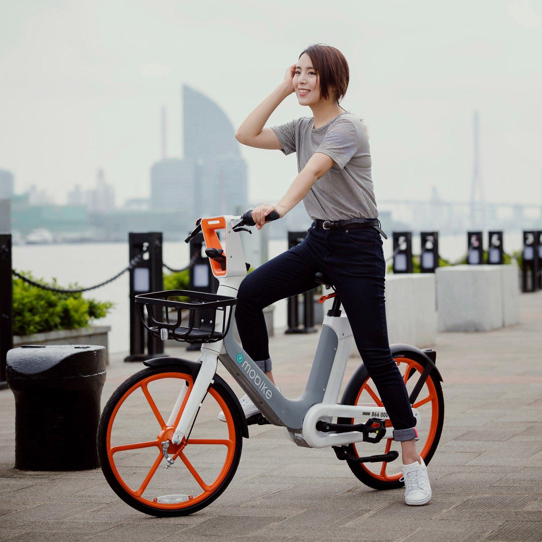 Elektrisches Fahrrad zum Mieten: Mobike E-Bike des chinesischen Anbieters Mobike. Foto: Mobike