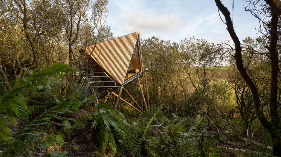 Kudiva Cabin von New British Design in Cornish Quarry, Vereinigtes Königreich. Foto: George Fielding
