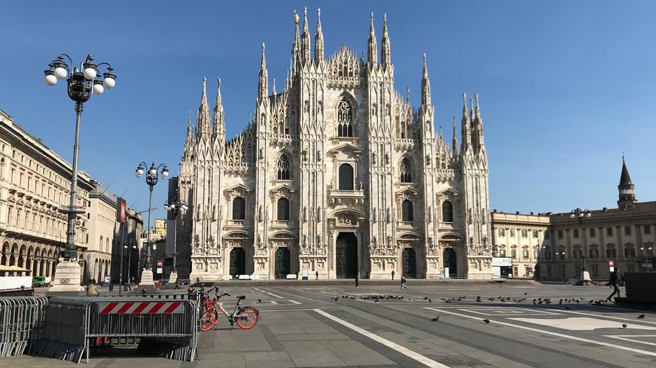 Piazza Duomo,16.03.2020 gegen 14:00Uhr