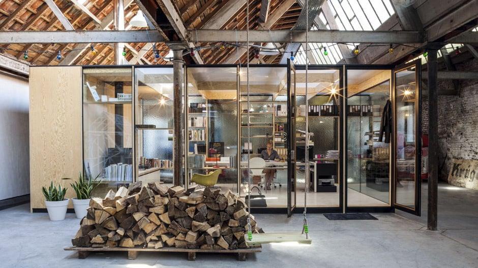 Atelier und Baupläne der Architektin Julie D´Aubioul