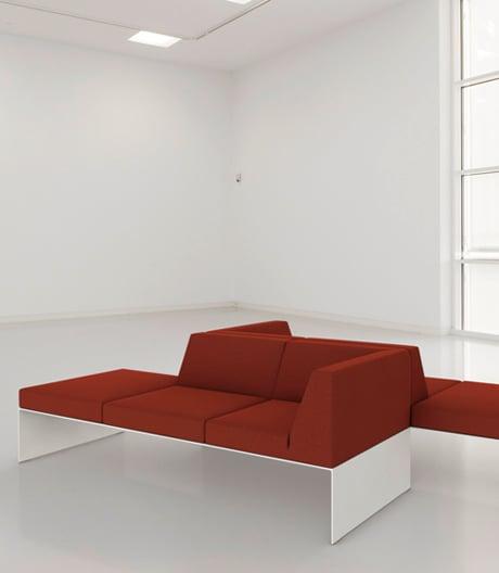 Ein modulares Sitzprogramm von jehs+laub für Brunner