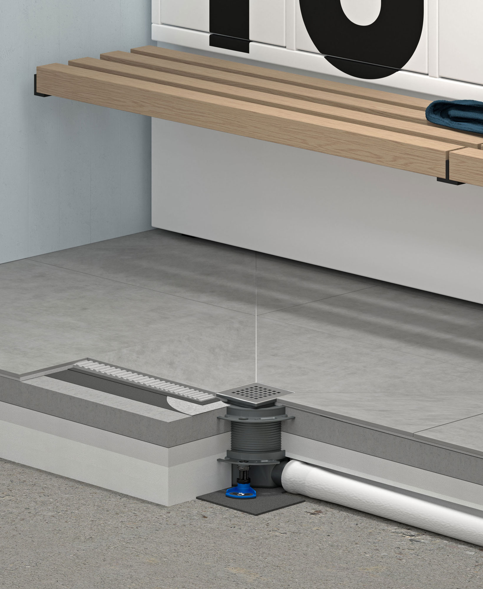 Modulares Bodenablauf-Baukastensystem von Dallmer