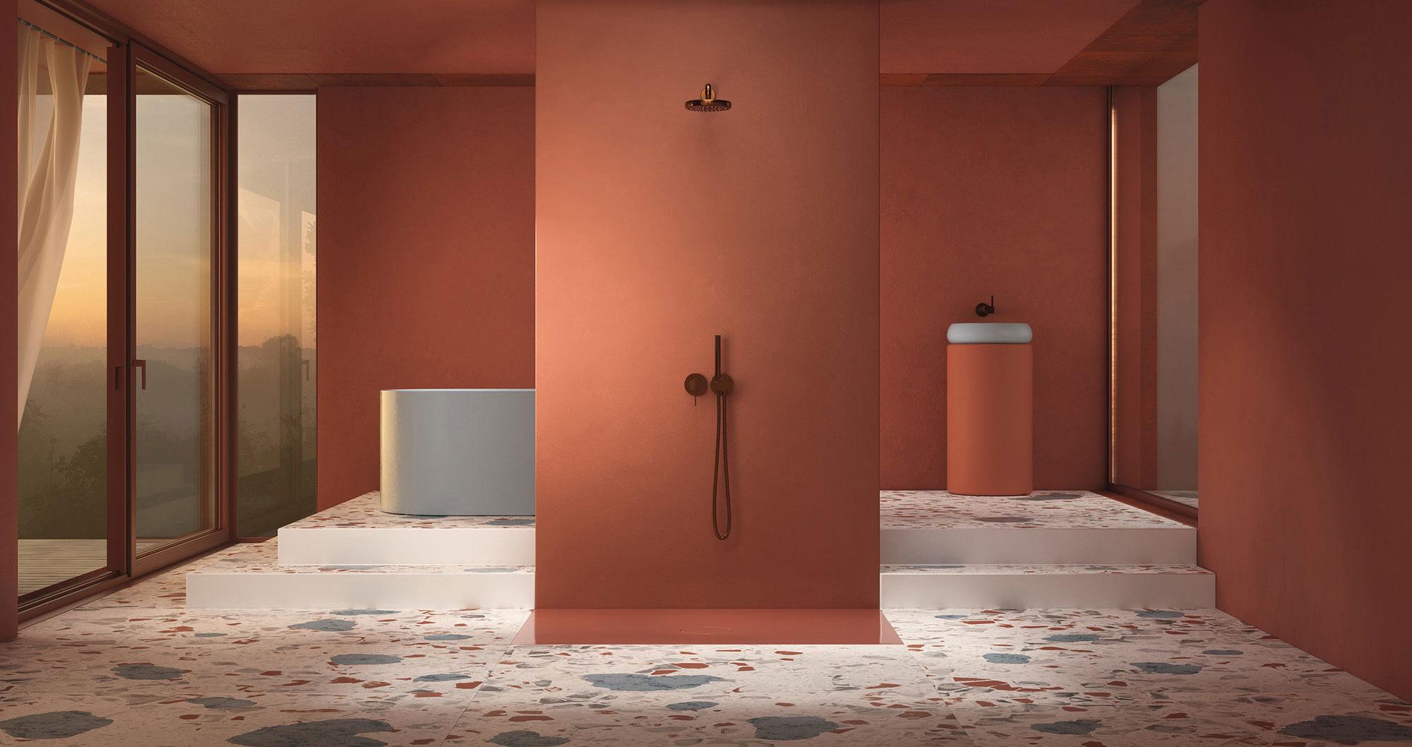 Neuartige Duschfliese von Tesseraux+Partner für Bette