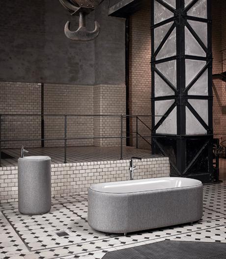 Gepolsterte Badinnovation von Tesseraux + Partner für Bette