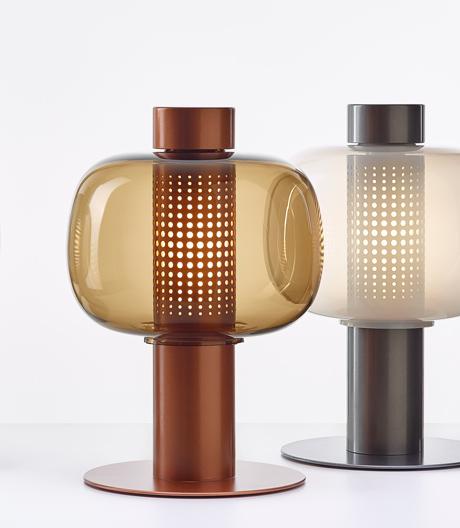 Leuchte aus mundgeblasenem Glas von Fumie Shibata für Brokis