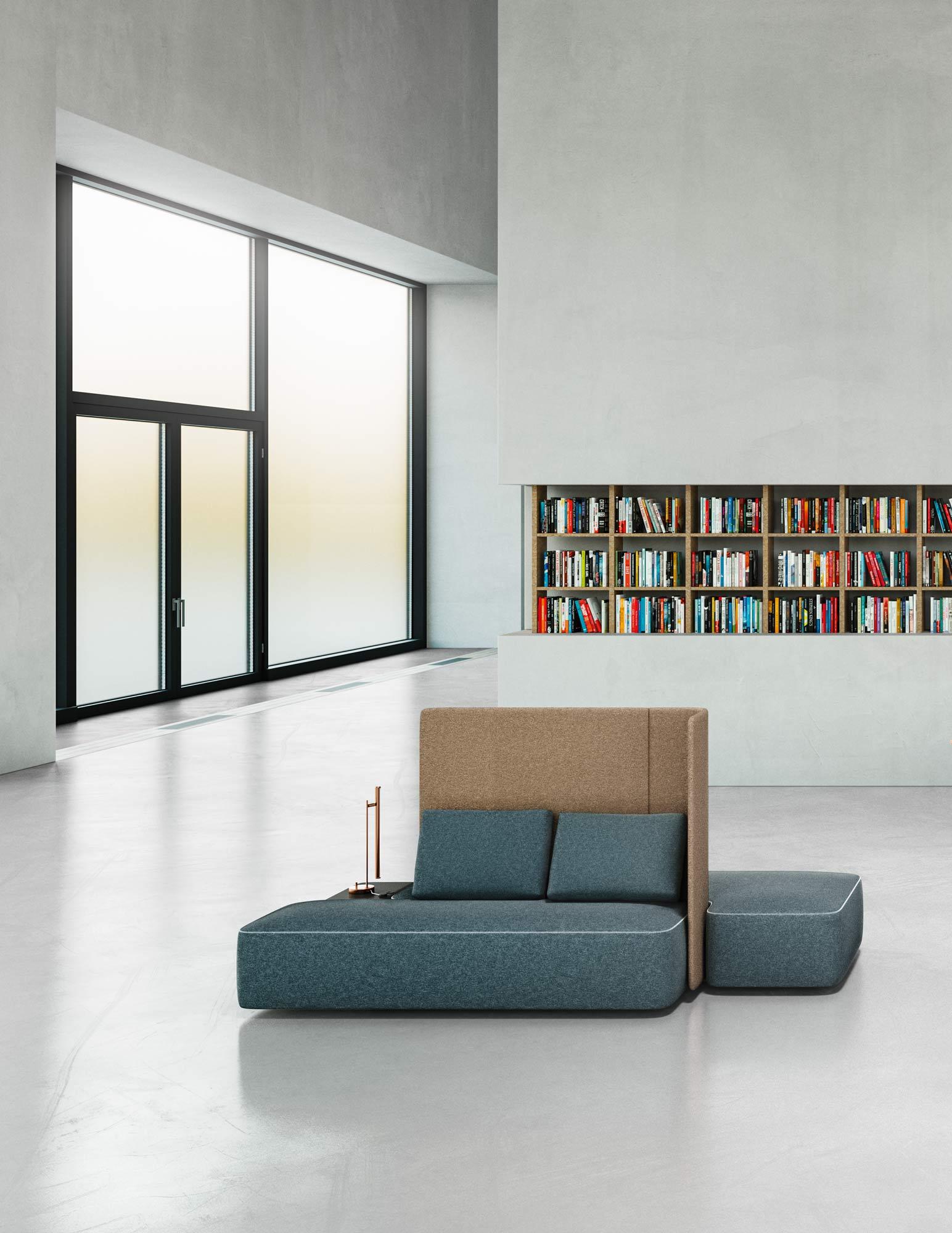 Modulare Sitzlandschaft von jehs+laub für Brunner