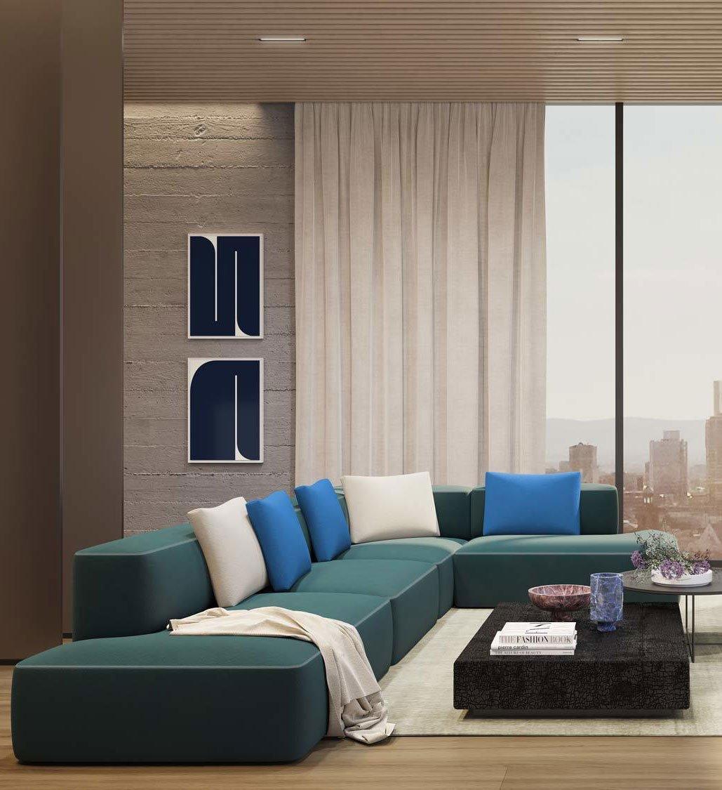 Modulares Sofaprogramm von jehs+laub für Brunner