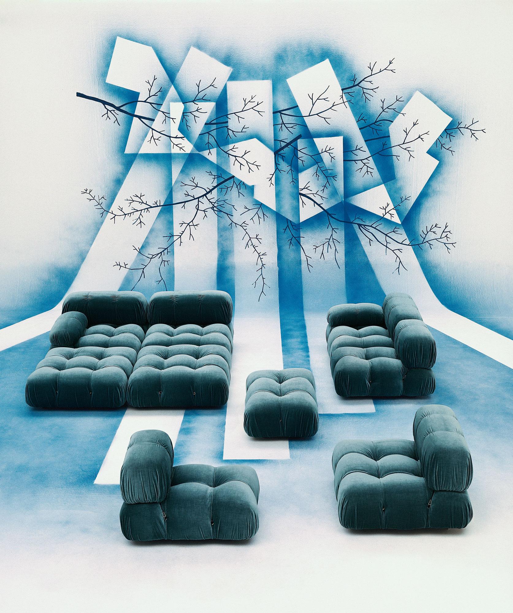 Neuauflage von Mario Bellinis flauschig-flexiblem Sofa für B&B Italia