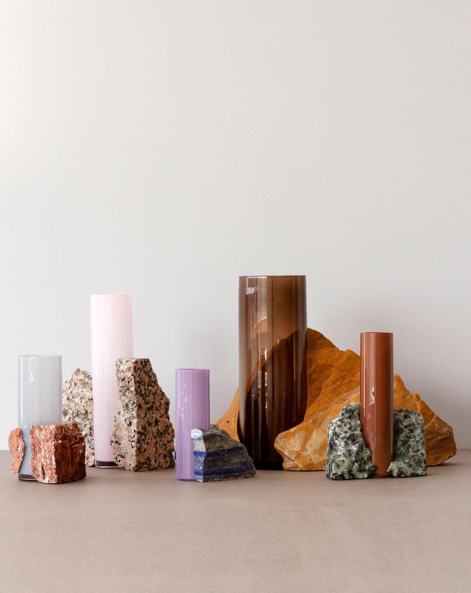 Vasen aus Marmor und Glas von Studio EO