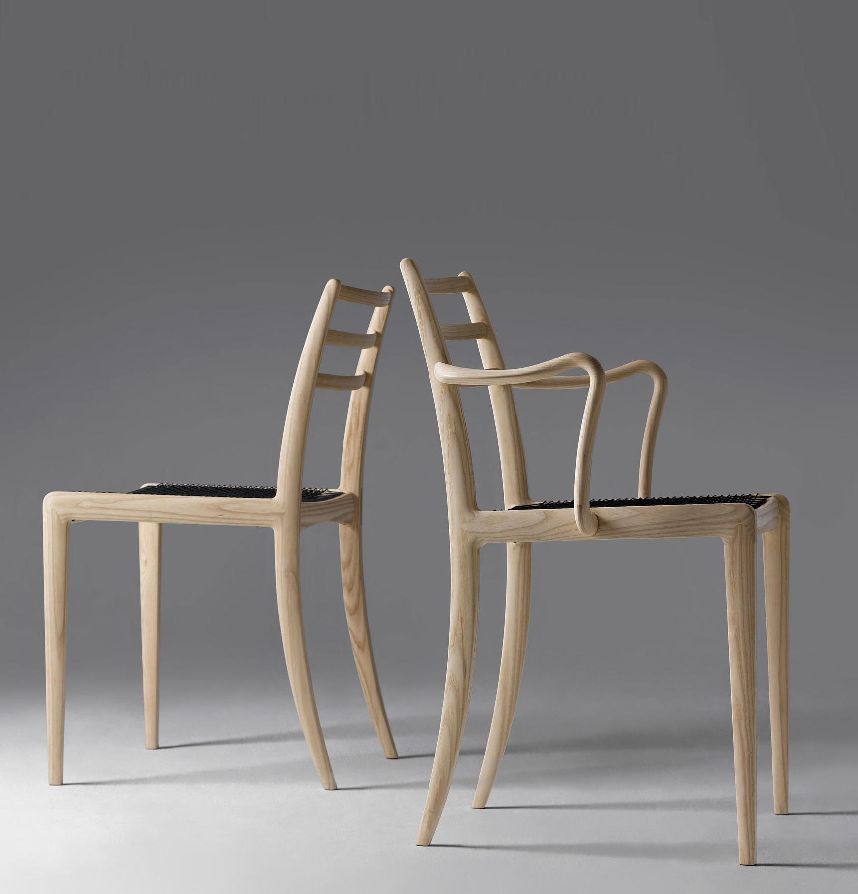 Federleichter Holzstuhl von Hans Sandgren Jakobsen für Asahi Wood