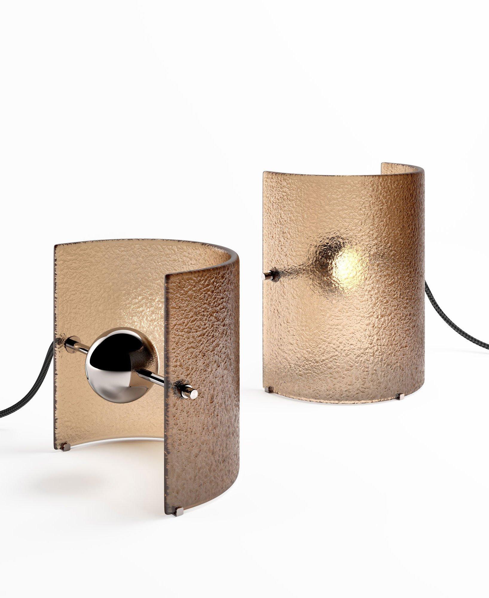 Gläserne Tischleuchte von Studiopepe für Gallotti & Radice