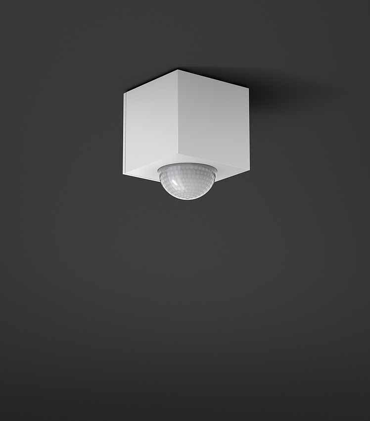 Automatische Lichtschaltung in modernem Design von Gira