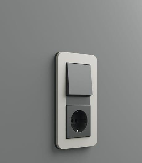 Soft-Touch-Schalter von Gira mit sanften Kurven und dezenten Farben