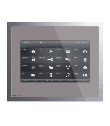 Zentrale und intuitive Steuerung mit dem kompakten Touchscreen-PC von Gira